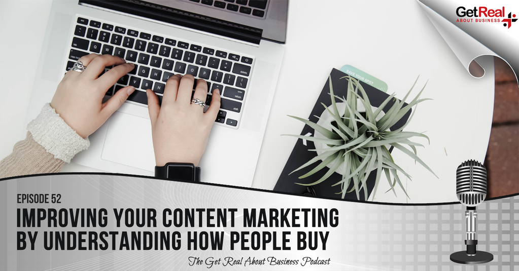 Person using a laptop creating content marketing